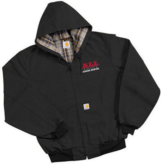 Black Carhartt Hooded Jacket