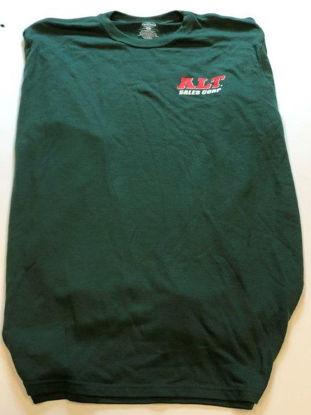 Green long sleeve cotton t-shirt